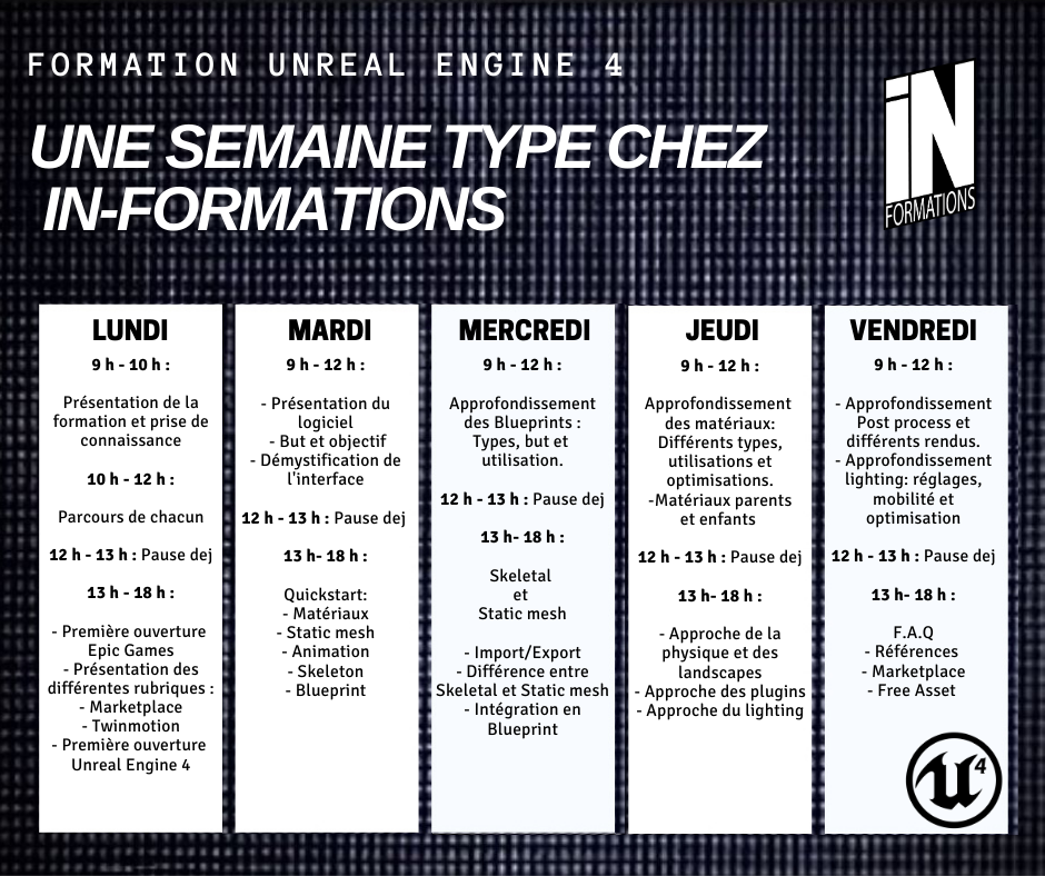 Une semaine type - In-Formations